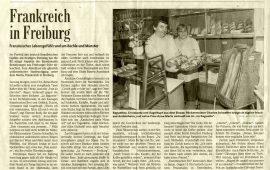 Frankreich in Freiburg (Badische Zeitung 12/06/2001)