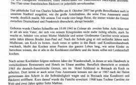 Nachruf im Stühlinger Magazin von Jürgen Kiessling (Oktober 2007)