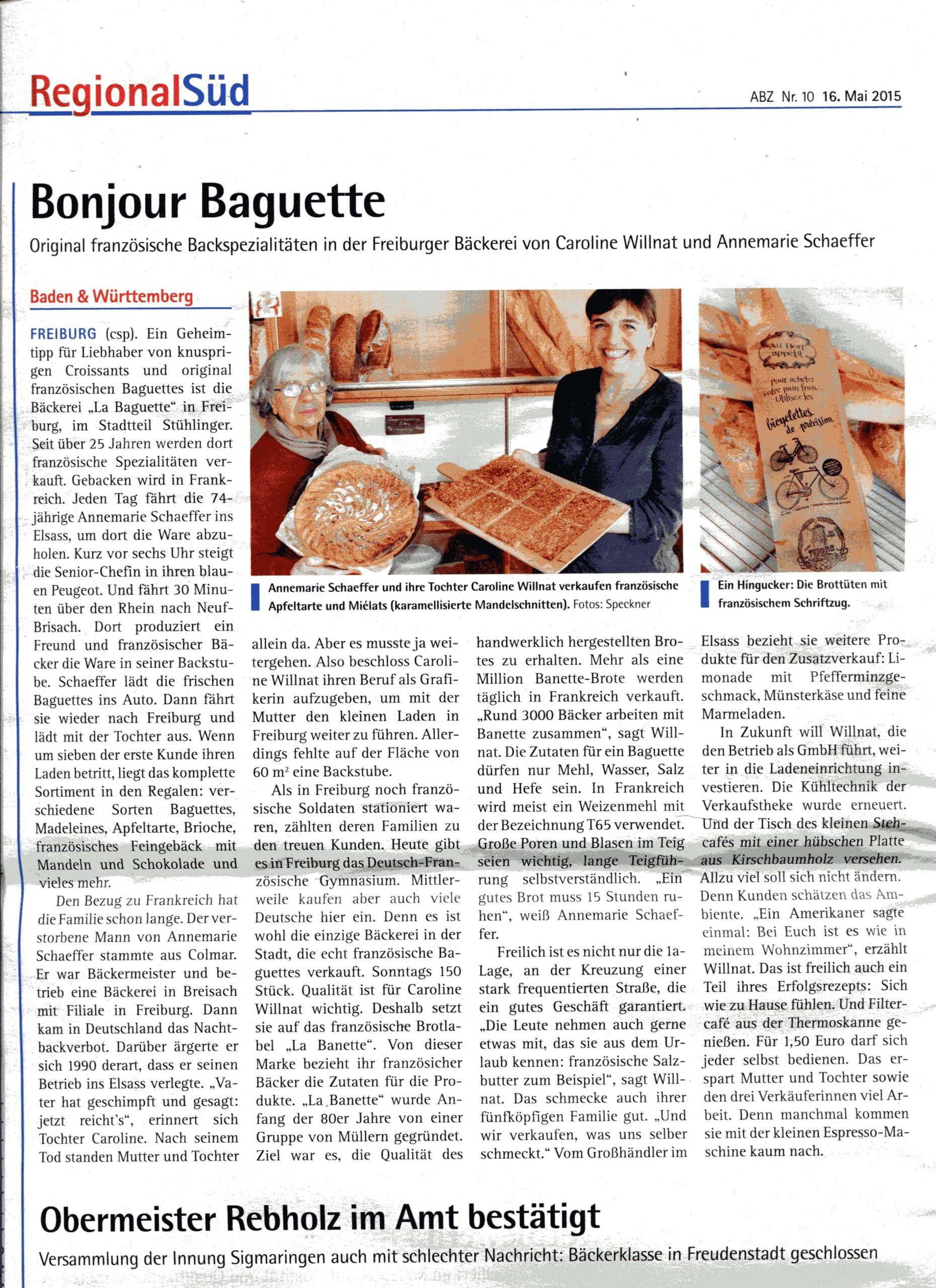 Bonjour Baguette ! (Regional Süd 16/05/2005)